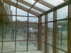 Алюмінієві фасади, зимові сади, перегородки, басейни, вікна, две