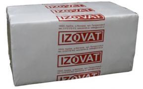 Базальтова вата Ізоват 135 пл 100мм (уп. 1.2 м. кв),уп