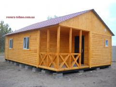 Country houses. Wooden houses
