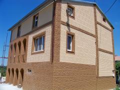 Фасадні плити Поліфасад - теплі плитки за ціною короїда