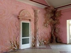 Гіпсова ліпнина на стінах і стелі