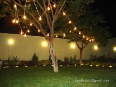 Гірлянди з ламп для яскравих свят і подій в оренду
