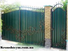 Ковані ворота і хвіртки в Коростени і Київ