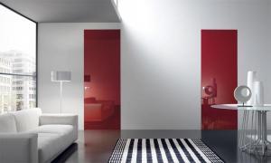 Міжкімнатні двері скляні прихованого монтажу
