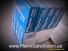 Оригінальний Плавикс (Plavix) 75 мг клопідогрелю. пр-під Sanofi Ф