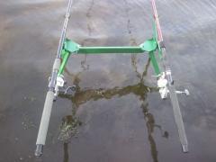 Підставка під 2 вудлища донного і поплавочного (+ відео)