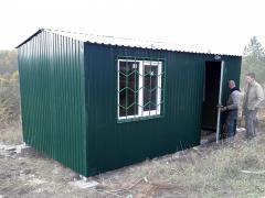 Побутівка, дачний будиночок 5,0х3,0х2,2 зелений