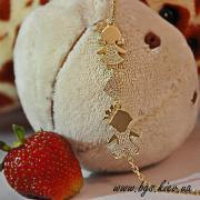 Подарунок на народження дитини молодій мамі Золотий мамин браслет