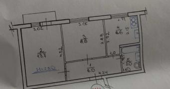 Продам 2-х кімнатну квартиру на Зерновий від власника