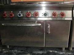 Продам б/в електричну плиту 6-ти конфорочну Lotus з духовкою
