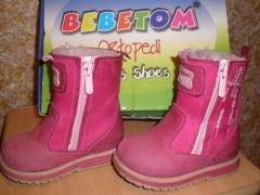Продам зимові черевики Bebetom для дівчинки 21р