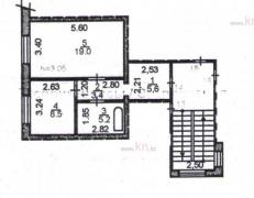 Продаж однокімнатної квартири, 42 м, Бухар-Жирау, будинок 34