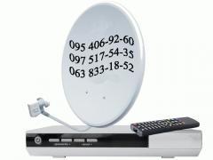 Придбати супутникову антену Київ ціна установка тв