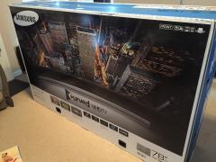 "Samsung JU7500 Series 78 ""-Class 4K Smart 3D Curved LED TV"