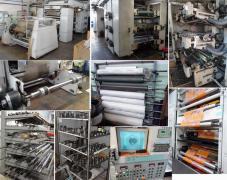 Шестикольорова друкуюча флексомашина і монтажний стіл кліше