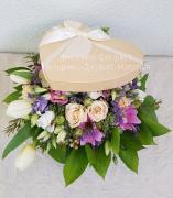 Шляпные коробки с цветами в Киеве