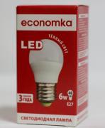 Світлодіодна лампа LED G45 6W E27 Economka (кулька) 2800/ 4200К