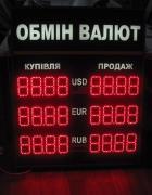 Світлодіодні табло обміну валют, Табло курсів валют