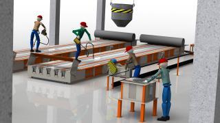 Технологічна лінія по виробництву світлових опор св