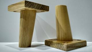 The legs of wooden furniture