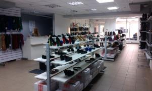 Торгове обладнання (стелажі, стійки) для взуття/сумок/аксессу