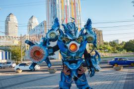 Трансформер шоу! Гальватрон робот