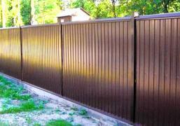 Установка заборів з профнастилу