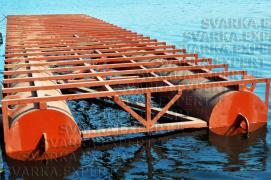 Виготовлення плавучих майданчиків і причалів