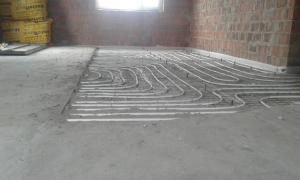 Warm floor, radiator, combined heating system